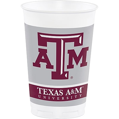 NCAA Texas A and M University Plastic Cups 8 pk (014848)