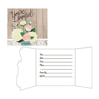 Creative Converting Rustic Wedding Invitations 8 pk (898706)