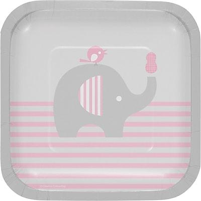 Creative Converting Little Peanut Girl Elephant Dessert Plates 8 pk (316943)