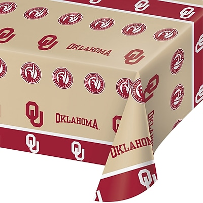 NCAA University of Oklahoma Plastic Tablecloth (724844)