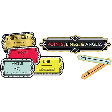 Carson-Dellosa Points, Lines, and Angles, Bulletin Board Set (CD-110347)