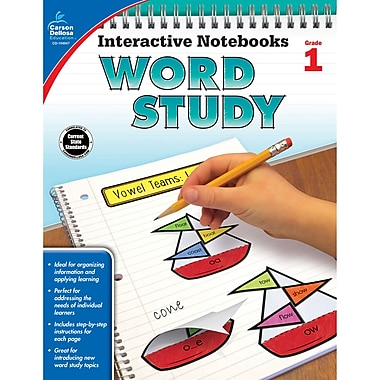 Carson-Dellosa Interactive Notebooks: Word Study Resource Book, Grade 1 (CD-104947)