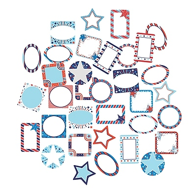 Carson-Dellosa Star-Spangled Mini Cut-Outs, 34/Pack (CD-120221)
