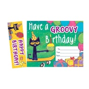 Teacher Created Resources Pete the Cat Groovy Birthday Bookmark Award, 90/Sets (EP-327)