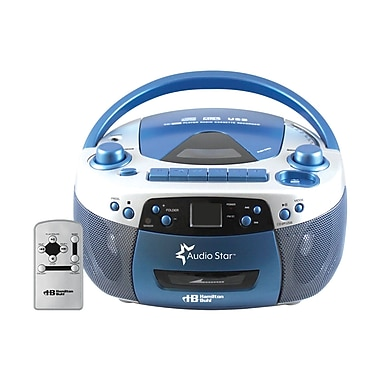HamiltonBuhl AudioStar Boombox Radio, CD, USB, Cassette Player with Tape and CD to MP3 Converter (HEC5050ULTRA)