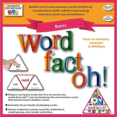 Learning Advantage word-fact-oh™ Basic Game (CTU2190)