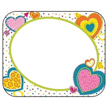 Carson-Dellosa Hearts Name Tags, 40 Per Pack, Bundle of 6 Packs (CD-150050)