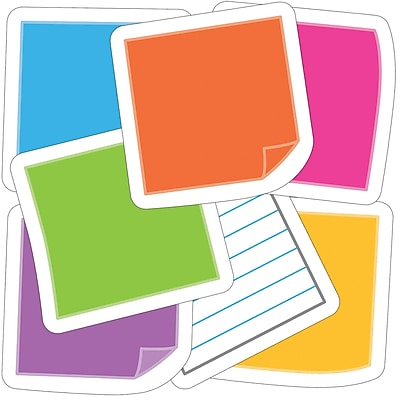 Carson-Dellosa Notes Mini Colorful Cut-Outs, 35/Pack (CD-120515)