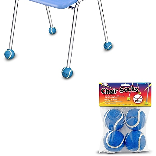 The Pencil Grip Chair Sox, Blue, Pack of 144 (TPG233)