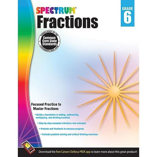Carson-Dellosa Spectrum® Fractions, Grade 6 (CD-704513)