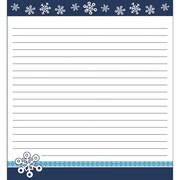 Snowflakes Notepad, 50 Sheets Per Pad, Bundle of 6