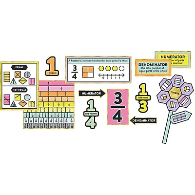 Carson-Dellosa Understanding Fractions, Bulletin Board Set (CD-110344)