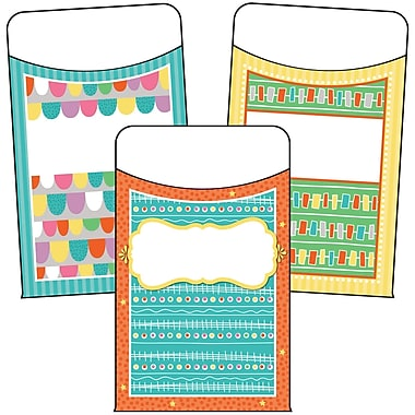 Carson-Dellosa Up and Away Library Pockets, 36 Per Pack, Bundle of 3 Packs (CD-121018)