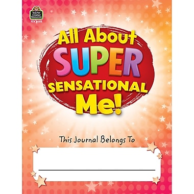 Teacher Created Resources All About Super-Sensational Me! Journal, Grades 2-3, Bundle of 6 (TCR8005)