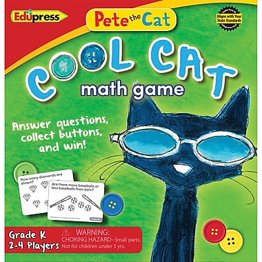Teacher Created Resources Pete the Cat Cool Cat Math Game, Grade K (EP-3530)