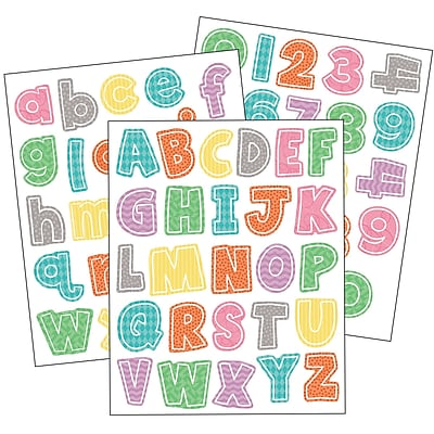 Carson-Dellosa Up and Away Letters and Numbers Sticker Pack, 470 Per Pack, Bundle of 3 Packs (CD-168239)