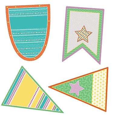 Carson-Dellosa Pennants Colorful Cut-Outs, 36/Pack (CD-120523)