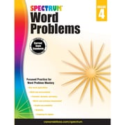 Carson-Dellosa Spectrum Word Problems Workbook, Grade 4 (CD-704490)
