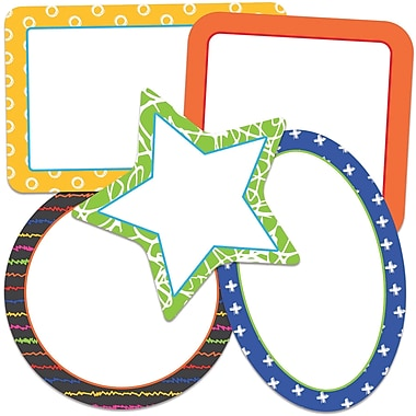 Carson-Dellosa School Tools Frames, Mini Colorful Cut-Outs, 34/Pack (CD-120514)