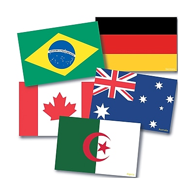 Teacher Created Resources International Flags Instructional Accents, 72/Pack (EP-3238)