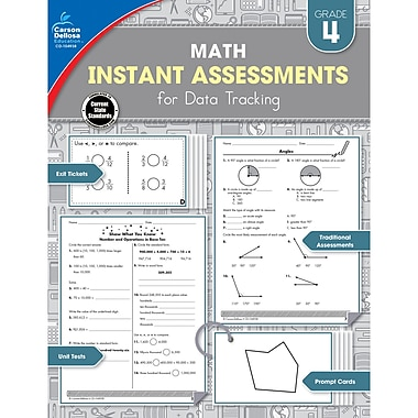 Carson-Dellosa Math Instant Assessments for Data Tracking Resource Book, Grade 4 (CD-104938)