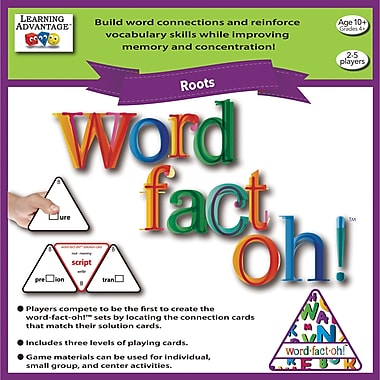 Learning Advantage™ word-fact-oh Roots Game (CTU2192)