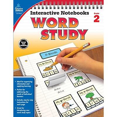 Carson-Dellosa Interactive Notebooks: Word Study Resource Book, Grade 2 (CD-104948)