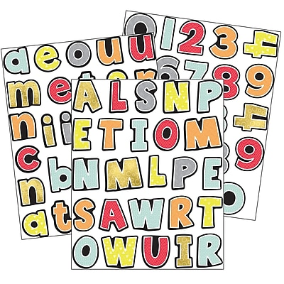Carson-Dellosa Aim High Letters and Numbers Sticker Pack, 470 Per Pack, Bundle of 3 Packs (CD-168245)