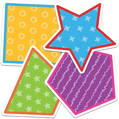 Carson-Dellosa Shapes Colorful Cut-Outs, 36/Pack (CD-120512)