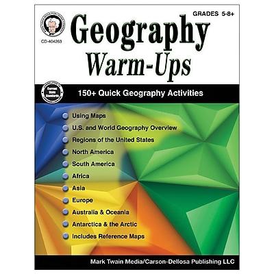 Carson-Dellosa Geography Warm-Ups Resource Book, Grades 5-8 (CD-404263)