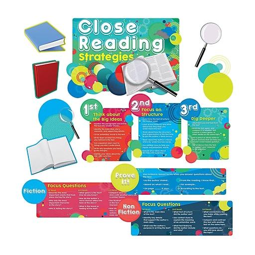 Teacher Created Resources Close Reading Strategies Bulletin Board Set (EP-237)