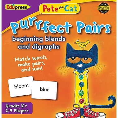 Teacher Created Resources Pete the Cat Purrfect Pairs Game: Beginning Blends & Digraphs (EP-3533)