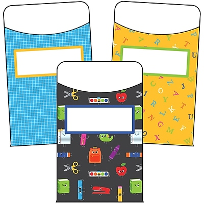 Carson-Dellosa School Tools Library Pockets, 36 Per Pack, Bundle of 3 Packs (CD-121016)