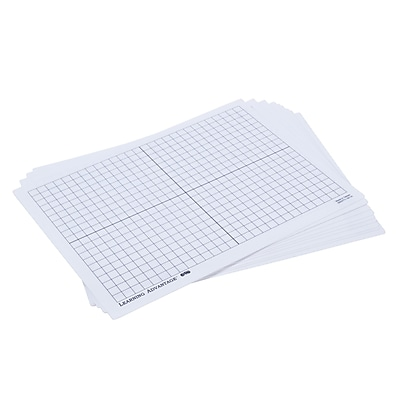 Learning Advantage XY Axis Dry Erase Boards, Set of 10 (CTU7854)