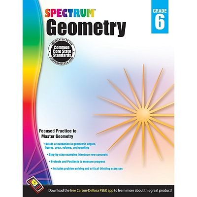 Carson-Dellosa Spectrum® Geometry, Grade 6 (CD-704514)
