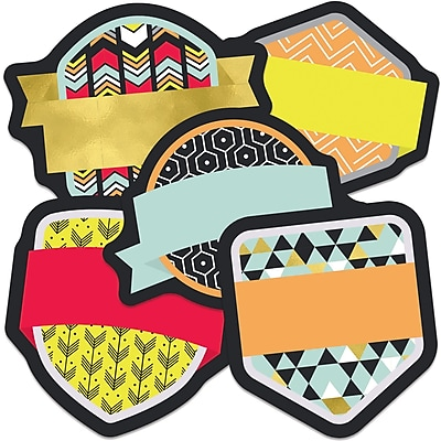 Carson-Dellosa Badges Mini Colorful Cut-Outs, 35/Pack (CD-120534)