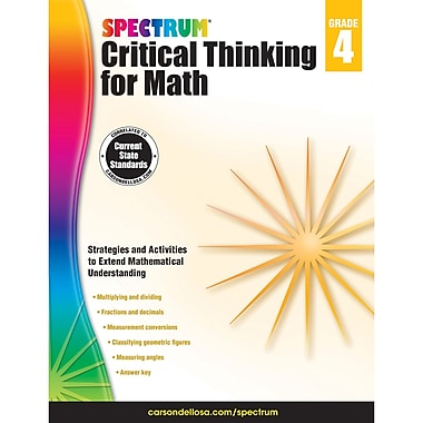 Carson-Dellosa Critical Thinking for Math, Grade 4 (CD-705116)