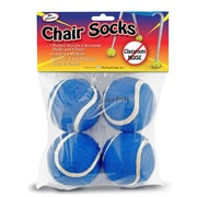 The Pencil Grip Chair Sox, Blue, 4 Per Pack, Bundle of 6 Packs (TPG232)
