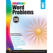 Carson-Dellosa Spectrum Word Problems Workbook, Grade 6 (CD-704492)