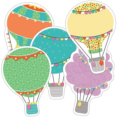 Carson-Dellosa Hot Air Balloons Colourful Cut-Outs, 36/Pack (CD-120525)