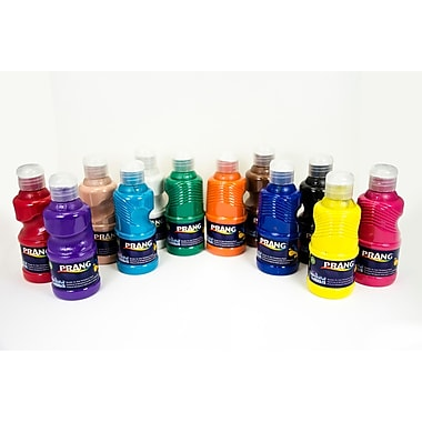 Prang Ultra Washable Tempera Paint, Set of 12 Colors in 8oz. Bottles (DIX10896)