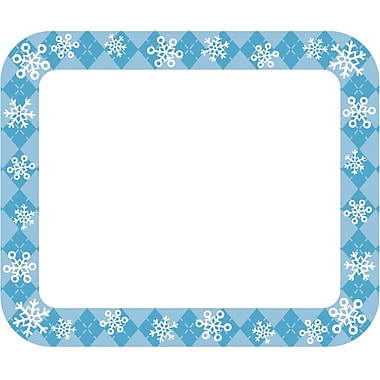Carson-Dellosa Snowflakes Name Tags, 40 Per Pack, Bundle of 6 Packs (CD-150055)