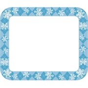 Carson-Dellosa Snowflakes Name Tags, 40 Per Pack, Bundle of 6 Packs (CD-150055)