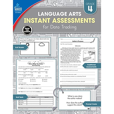 Carson-Dellosa Language Arts Instant Assessments for Data Tracking Resource Book, Grade 4 (CD-104944)