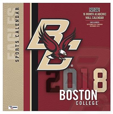 Boston College Eagles 2018 12X12 Team Wall Calendar (18998012074)
