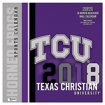 Tcu Horned Frogs 2018 12X12 Team Wall Calendar (18998012078)