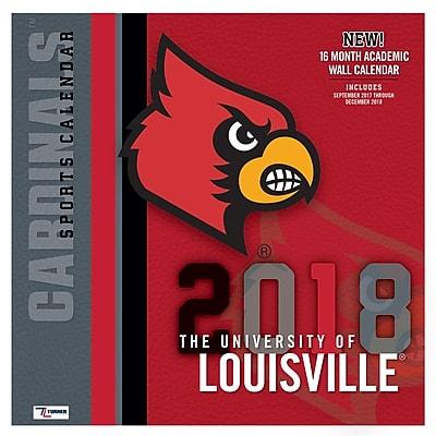 Louisville Cardinals 2018 12X12 Team Wall Calendar (18998011804)