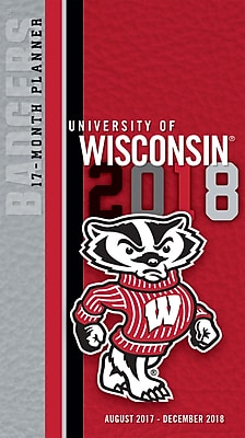 Wisconsin Badgers 2017-18 17-Month Planner (18998890524)