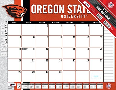 Oregon State Beavers 2018 22X17 Desk Calendar (18998061486)