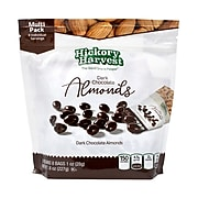 Hickory Harvest Almonds,Dark Chocolate, 1oz., 8 Bags/Pack, 3/Pack (220-00934)